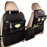 Organizador de automóviles, Travel Kick Mat, Asiento de coche Atrás ORGANIZADOR DE ALMACENAMIENTO Backseat Backseat Protector Kick Mat - iPad Mini Holder Holder Soporte de taza de paraguas Tocador Acc