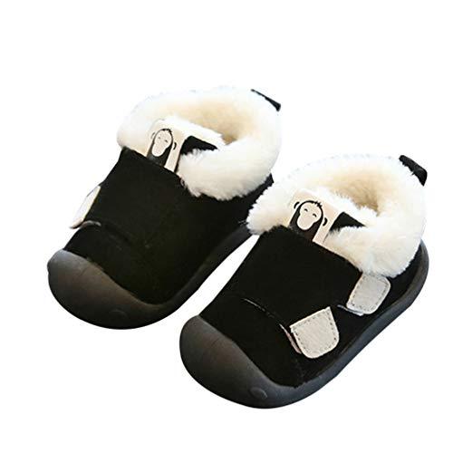 Holibanna Scarpa da Bambino Prewalker Stivali da Camera Coperta Inverno Caldo Bambino Bambini Presepe Scarpe Scarpe da Casa per L'inverno - Nero (14 Metri Misura per 8-10 Mesi)