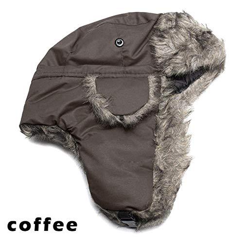 XCLWL Russen muts heren winter warme oorflap Ski hoed imitatiebont muts