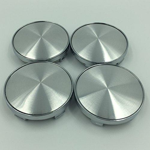 4 x Universal Chrome Silver Nabenkappen Nabendeckel Felgendeckel Radkappen 60mm Kein Logo Emblem