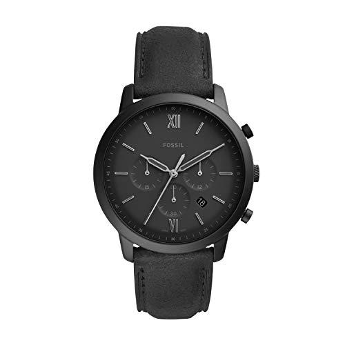 Fossil Herren Chronograph Quarz Uhr mit Leder Armband FS5503