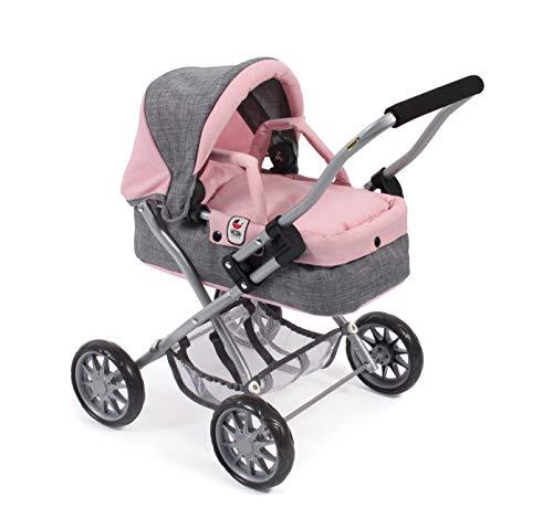 Bayer Chic 2000 555 15 Puppenwagen Smarty, Melange grau-rosa