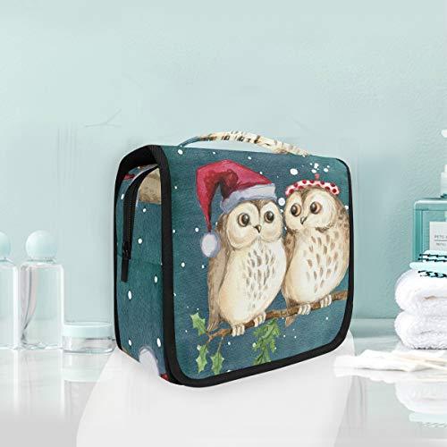 Sac de Toilette pour Les Enfants de Noël avec hiboux et Oiseaux