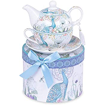 /Tetera y Taza G para 1/comensal Lavanda en Caja de Regalo Porcelana Wurm Tea for One/