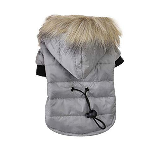 Roblue Manteaux d'hiver pour Chien Chats Chaud avec Capuche Vêtements d'hiver Lavable en Coton XS-XL