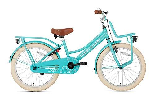 POPAL SuperSuper Cooper Kinder Fahrrad für Kinder | Mädchen Fahrrad 20 Zoll ab 6-8 Jahre| Kinderrad met Stützrädern | Turquoise