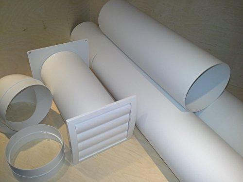 VentilationNord Mauerkasten NW 150 Dunstabzug Teleskop Rohr mit Rohrset und Bogen S2-R-MKWSKQLW150