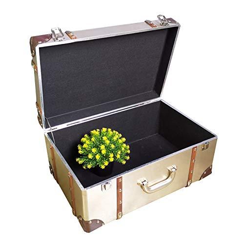 XJJUN Maleta Vintage Caja De Almacenamiento Retro, Caja De Almacenamiento Industrial De Metal, Estante De Exhibición De Ventana, Decoración De Exhibición, Colección De Fotografías