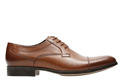 Clarks Men's Conwell Cap Oxford, tan Leather, 10 D US