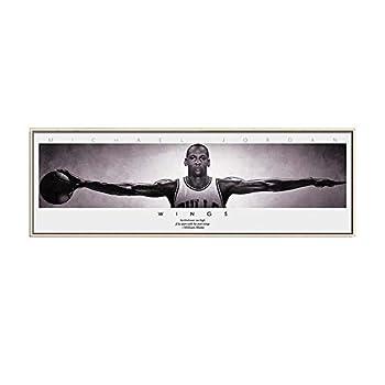 Michael Jordan Wings Canvas Painting Wall Art Basketball Star Poster for Living Room Frameless  20x60 cm unframed
