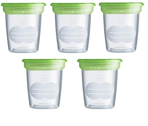 Mam Set 5 contenitori per Latte e Alimenti, in Plastica Senza Bpa e Bps
