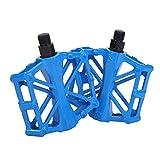 Herefun Pédale de vélo MTB Alliage Aluminium, Pédale VTT Vélo 9/16 Pouces Antidérapant Durable, Pédales de vélo Pédale de Cyclisme Compatible avec Vélo de Montagne/vélo de Route/vélo de Ville (Bleu)