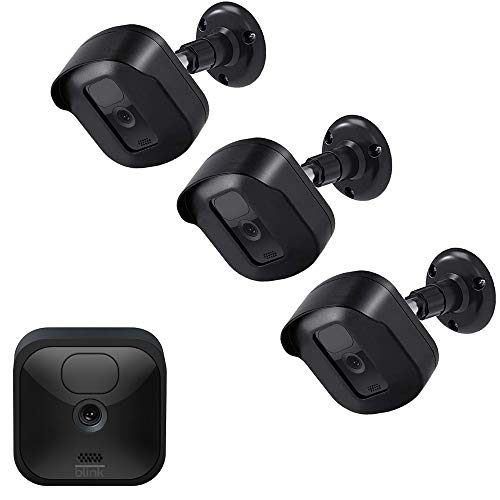 Blink Outdoor Camera Wall Mount Bracket, Full Weather Proof Protective Housing Cover with Adjustable Mount for Blink XT2/XT Indoor Outdoor Home Security Camera System (Black, 3 Pack)