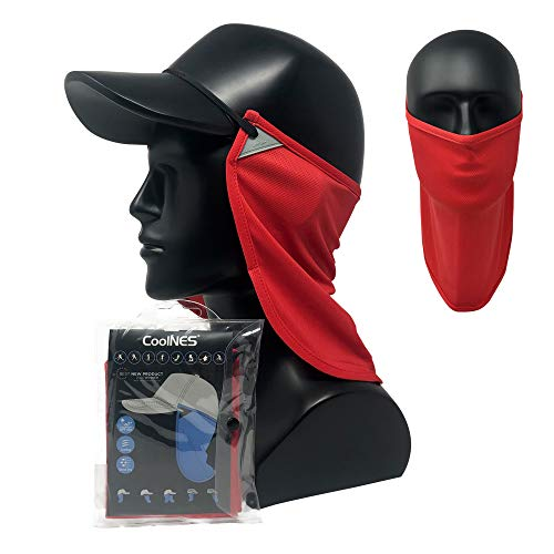 CoolNES - UV Sun Protection Neck Drape Adjustable Multifunctional 2 in 1 Face...