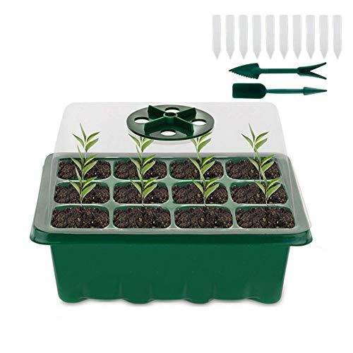 12 bolsa de plantación de flores vegetales cuadrados pequeña cama de jardín...