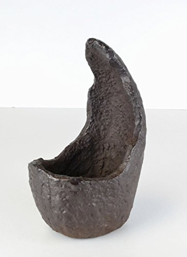 4.5' Hand Made Half-Moon Lava Rock Shohin Bonsai Pot (LV8)