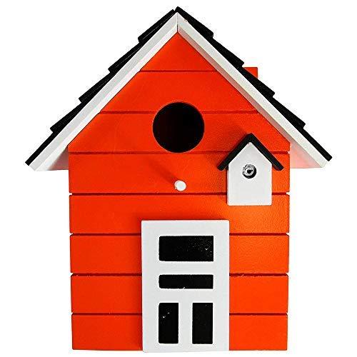 CasaJame Maison Ameublement Accessoires Jardinage Décoration Jardin Nichoir pour Oiseaux Orange 17x12x20cm