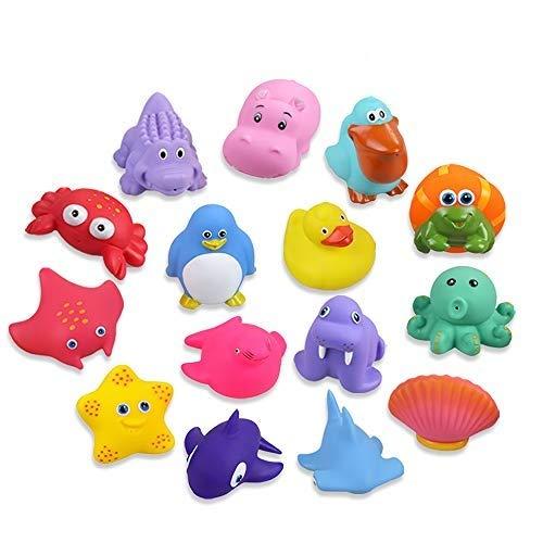 Lictin Badespielzeug Badewannenspielzeug Baby 15 Stücke Kinder Badewannen Spielzeug Badespielzeug Set Baby