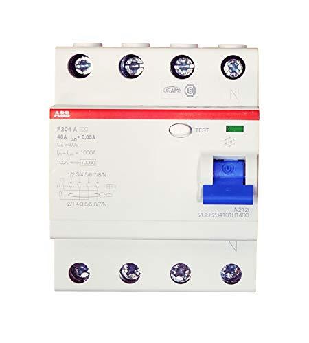 ABB FI-Schutzschalter, 25A, 4-polig, F204-25/0,03