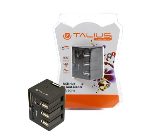 Talius Hub Lector-148-3 USB, Puerto USB 2.0, 5 Ranuras de Tarjetas, micros SD, SD, MM, MC, MS