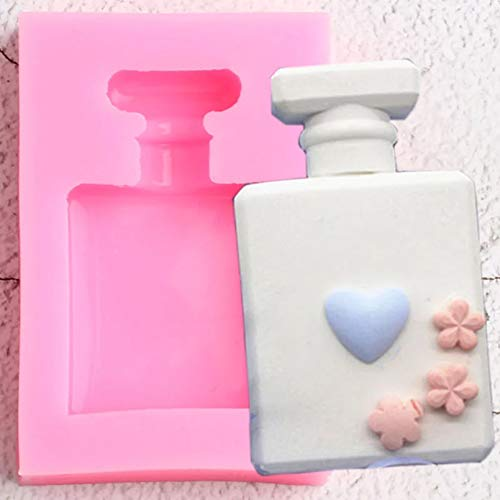 ZPZZPY 3D Perfume Bottle Silicone Molds Aromatherapy Wax Candle Soap Mold Fondant Cake Decorating Tools Candy Chocolate Gumpaste Moulds