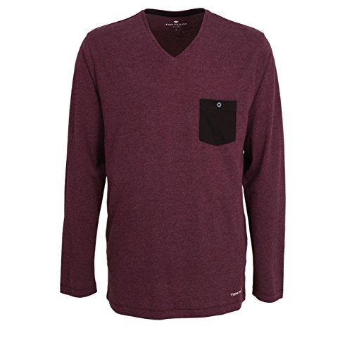 TOM TAILOR Herren Shirt lila Melange 1er Pack 52