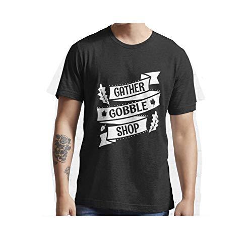 HVT Global: Gather Gobble Wobble Shop Coffee Turkey Feathers wqc T-Shirt (Black)