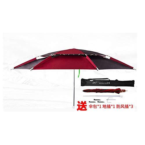 YAMEIJIA Visparaplu universele vouwen regendichte outdoor vissen paraplu schaduw zon vouwen vissen paraplu verdikte vissen paraplu, Carmine