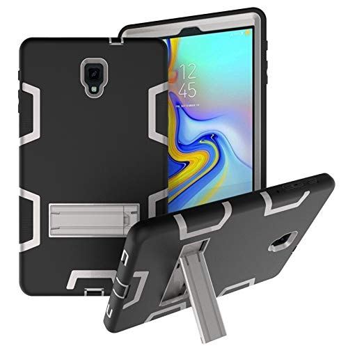 BZN For Samsung Galaxy Tab A 10.5 T590 Shockproof PC + Silicone Protective Case,with Holder (Color : Black Gray)