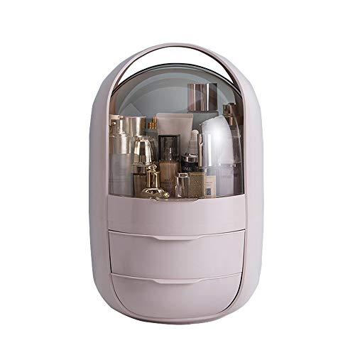 WANGLXCO Beau Rangement Maquillage Présentoir Cosmétique Vanity de Grande Capacité pour Bijoux, Pinceaux de Maquillage, Rouges à Lèvres Hermétique, C
