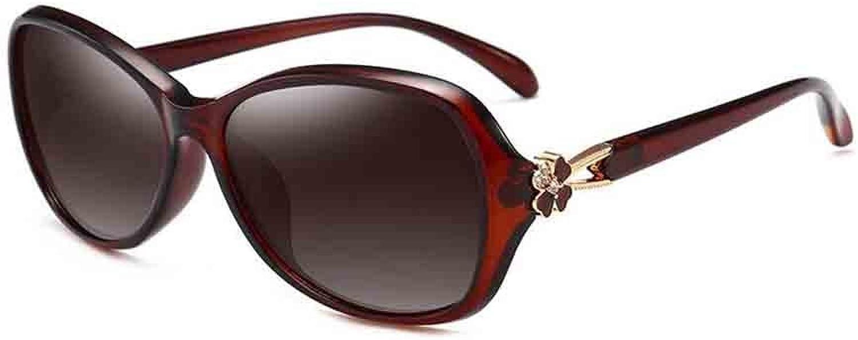 Sunny Highend Women's Polarized Sunglasses UV400 AntiUV Spring and Summer  New Upgrade Material  Quality Assurance (color   Tea color)