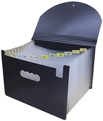 WQQLQX Archivadores Archivo contenedor-A4 + Carpeta Desktop Manager de Archivos de Gran Capacidad Bolsillo suplemento de Asistencia de diseño de Etiquetas PP Material de tamaño Carta Document