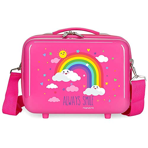 Movom Arcoiris Always Smile Nececer Adaptable Rosa 29x21x15 cms ABS