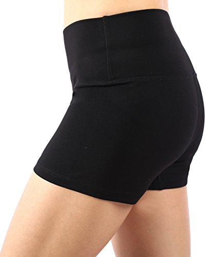 Neonysweets Womens Workout Shorts Running Yoga Short Pants Black M