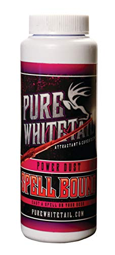 Pure Whitetail Spell Bound Power Dust Scent – All Season Natural Overhanging Licking Branch Mock Scrape Attractant and Cover Scent Powder