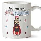 MUGFFINS Taza Peluquera (Superhéroes() - Regalos Originales y Divertidos de Peluquería