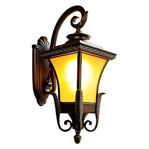 QJY Led-wandlamp, waterdichte en energiebesparende buitenverlichting voor de auto, behuizing van aluminium en glas, transparant, voor opritten, hal, tuin