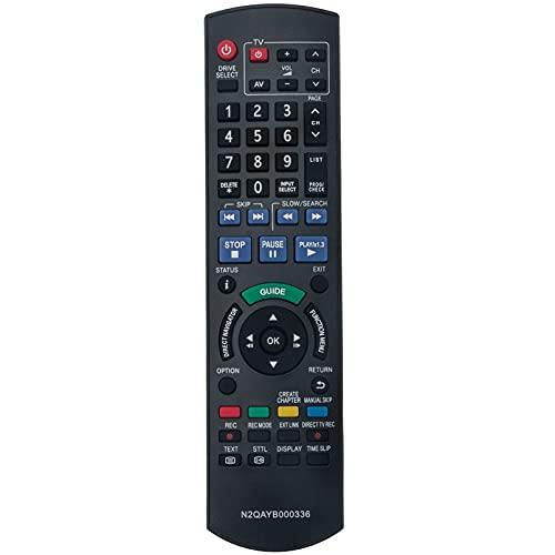 ALLIMITY N2QAYB000336 Fernbedienung Ersetzen für Panasonic DVD Recorder DMR-EX72SEGS DMR-EX72S DMR-EX72SEG DMR-EX72SEGK DMREX72SEGS DMREX72S DMREX72SEG DMREX72SEGK