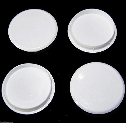 10x Bisagra agujero blanco tapones para 35mm orificio de armario puerta de armario de cocina tapón obturador gorra eMarkooz