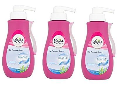 Veet Gel Cream Hair Remover 13.5oz Pump (Sensitive) (3 Pack) from RB