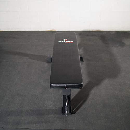 Titan Fitness Tri-Pod Competition Flat Workout Bench, Rated 1,000 lb Weight Training Utility Bench