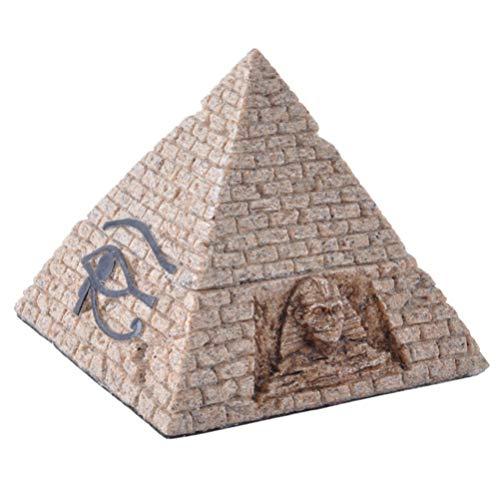 VOSAREA Ägyptische Pyramide Box Sandstein Box Dekorative Pyramide Figur Souvenir Ornament Wohnkultur für Neujahr Geschenk Schmuck Container