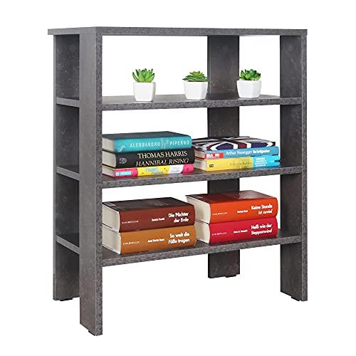 RICOO Schuh-Regal (WM039-BG) 70 x 60 x 32 cm Holz-Regal Grau Stand-Regal Schuh-Schrank Bücher-Regal Organizer Bücher-Schrank Wohn-Zimmer