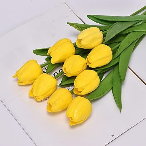 VIOYO Decoración 5/10/20 Uds Flor Artificial de tulipán Real Touch Ramo de tulipán Artificial Falso para Regalo para el hogar Flores Decorativas de Boda