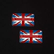 2pcs England Britain UK Union Jack Flag Resin Sticker Emblem Badge Car Trunk Car Styling Car Stickers for mini cooper land rover