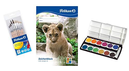 Herlitz 10116655 Schulmalfarben bzw. Deckfarbkasten, 12 Farben inklusive Deckweiß (Komplett-Set, Deckfarbkasten)