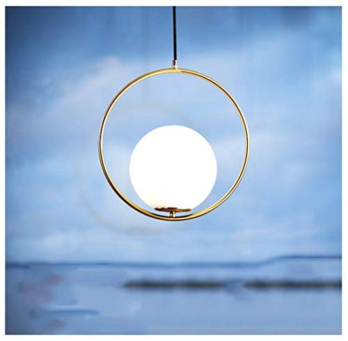 NIUZIMU Nordic persoonlijkheid restaurant veranda gang kroonluchter minimalistische gouden ring maan hanglamp eenvoudige bed garderobe plafondverlichting