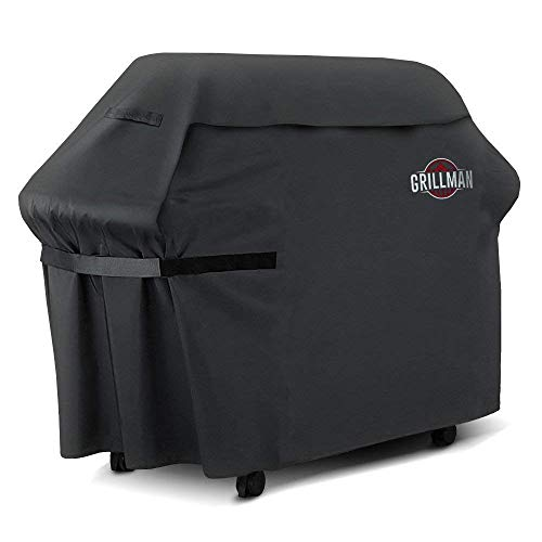 Grillman Premium BBQ Grill Cover, Heavy-Duty Gas Grill Cover for Weber, Brinkmann, Char Broil etc. Rip-Proof, UV & Water-Resistant (64' L x 24' W x 48' H)