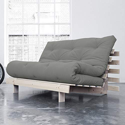 Alfred & Compagnie Canapé convertible + futon ANOUK 140x200 pin brut