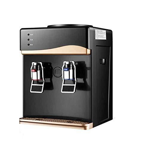 HKX Dispensador de enfriador de agua para encimera de carga caliente, calefacción para el hogar y ahorro de energía, dispensador de agua de enfriamiento individual, hielo/calor, 27 x 26 x 38 cm